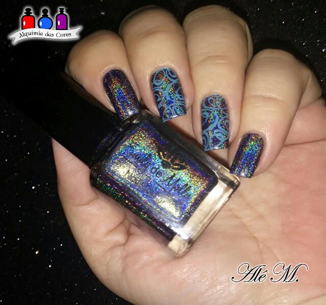 Emily de Molly, Chasing Rainbows, Holográfico, Charcoal, La Femme, Ternurinha, Doçura, SB 040, Carimbado
