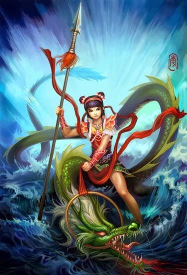 ชมรมส่งเสริมกีฬาเชิดสิงโต-มังกรประเทศไทย เทพเจ้านาจาไท่จื้อเทพเจ้านาจาหรือ หน่าจา(อังกฤษ:Na Zha,Ne Zha,จีน:哪吒 ญี่ปุ่น:ナタ太子) เทพเจ้าตามความเชื่อของจีน บางตำราเชื่อว่าเป็นบุตรของเจ้าแม่กวนอิม                เดิมนาจาเป็นเทพบนสวรรค์ชื่อว่า หลิน จินจื่อ เป็นบุตรของเทพเจดีย์ แต่ด้วยโลกมนุษย์มีปีศาจมาก ทางสวรรค์จึงส่ง หลิน จินจื่อ มาจุติยังโลกมนุษย์ในยุคราชวงศ์ซาง ในตระกูลหลี่ (李)ประสูติเมื่อวันที่ 9 เดือน 9 เป็นบุตรของแม่ทัพหลี่(หลี่เจ๊ง) และนางฮึ่นสี ขณะที่ตั้งท้อง แม่ทัพหลี่ ได้ถูกส่งให้ไปออกรบ ประมาณ 1 ปี  6 เดือน เมื่อแม่ทัพหลี่กลับมา ภรรยาคลอดบุตรพอดี เป็นลูกแก้ว จึงเข้าใจว่าเป็นปีศาจ แม่ทัพหลี่โกรธมาก จึงใช้กระบี่ฟันไปที่ลูกแก้ว เมื่อลูกแก้วแตกก็เห็นเด็กผู้ชายหน้าตาน่ารักนอนอยู่บนผ้าแพร และมีห่วงทองอยู่ที่ตัวด้วย นาจาในวัยเด็กซนมากและไม่กลัวใคร วันหนึ่งนาจาไปเล่นน้ำทะเล ด้วยเป็นเด็กจึงเอาผ้าเหวี่ยงเล่นที่น้ำ ทำให้ใต้บาดาลสะเทือน เจ้าสมุทรสั่งให้ทหารออกมาดูเห็นเด็กกำลังเล่นน้ำอยู่จึงเข้าไปขู่  นาจาจึงใช้ผ้าเหวี่ยงเพื่อไล่ให้ไปแต่ปรากฏว่าถูกตัวทหารทำให้ทหารของเจ้าสมุทรตาย ต่อมาลูกเจ้าสมุทรเห็นว่านานแล้ว ทหารยังไม่มารายงานจึงขึ้นตามมาดูก็เห็นทหารตายอยู่ และมีเด็กกำลังเล่นน้ำอยู่จึงเข้าไปขู่ แต่ถูกผ้าแพรเหวี่ยงตายเช่นกัน ทหารก็ไปรายงานเจ้าสมุทร เจ้าสมุทรโกรธมากจึงไปหา แม่ทัพหลี่ และบอกว่าลูกของท่านได้ฆ่าลูกของตน และเจ้าสมุทรจะเอาน้ำทะเล มาถล่มเมือง พอนาจาได้ยินรุ่งเช้า จึงไปเมืองบาดาลและถลกเส้นเอ็นมังกรและเสกมังกรให้เป็น งูเขียว แล้วเดินทางกลับบ้าน                เมื่อกลับถึงบ้าน แม่ทัพหลี่ก็ดุด่านาจาว่าเจ้าสมุทรโกรธมาก และจะถล่มเมือง นาจาจึงเอาเส้นเอ็นออกมาให้พ่อดู แล้วบอกว่า เส้นเอ็นนี้เอามาให้พ่อทำเสื้อเกราะ แล้วเจ้าสมุทรก็อยู่ที่ตัว นาจาก็ขว้างงูเขียวออกมาเห็นเป็นเจ้าสมุทร แม่ทัพหลี่โกรธมากจึงดุด่านาจา จนในที่สุด นาจาน้อยใจจึงแล่เนื้อคืนแม่ และแล่กระดูกคืนพ่อ จากนั้นจึงเข้าฝัน บอกให้แม่ทำศาลบูชาให้ แล้วนาจาจะได้ชุบชีวิตขึ้นมาใหม่ แม่ทัพหลี่ทราบเรื่องก็ไปทำลายศาล นาจาจึงโกรธมากและคิดที่จะฆ่าพ่อ                นาจาตายไปแล้วจึงหอบวิญญาณไปพบเซียนซือจุน เซียนซือจุนเห็นว่า นาจามีความสามารถในการปราบมารปีศาจ จึงได้ชุบชีวิตให้นาจาโดยใช้ก้านบัวแทนกระดูก รากบัวแทนเนื้อ ใยบัวแท