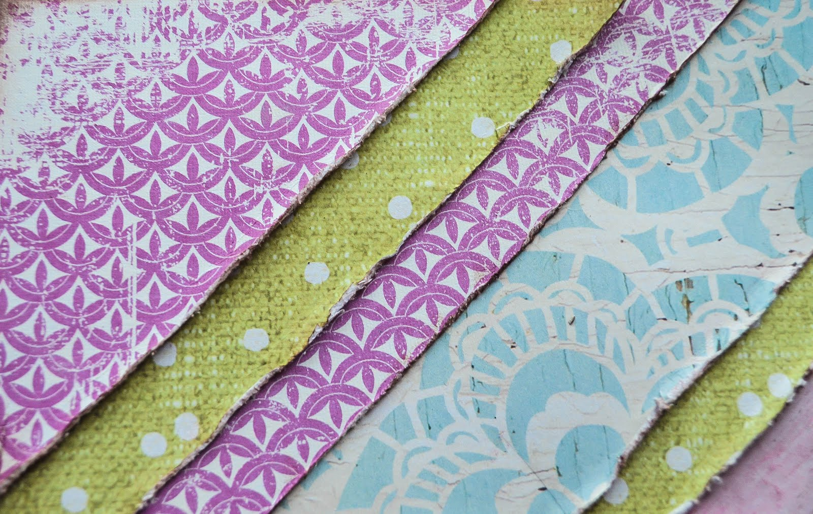 Shabby Boho Chic Scrapbooking Page Layout in purple, pink, sage green, and baby blue with  Paper House Productions Wedding Day B side papers