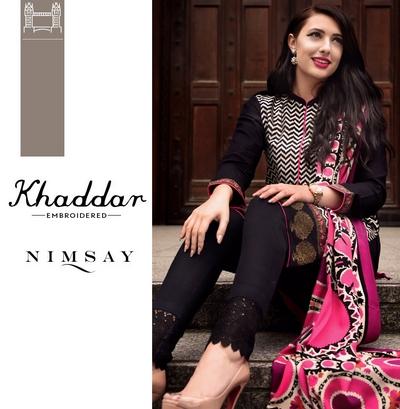 70069f247e48 Nimsay Winter Khaddar   Linen Collection 2016 ( Ready to Wear ...