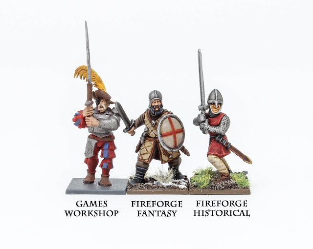 Fireforge Games Plastic Fantasy Forgotten World Northern Infantry Scale Comparison