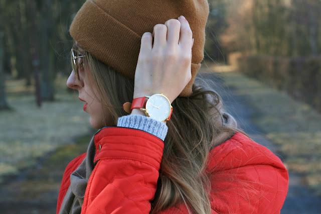 Lazy sunday outfit with red jacket | Strój dnia z czerwoną kurtką