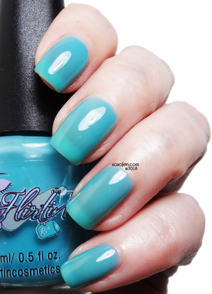 xoxoJen's swatch of Flirtin Bottled Water or Sweet Teal