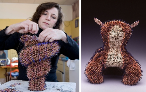 00-Jennifer-Maestre-Creature-Pencil-Sculptures-with-a-Peyote-Stitch-www-designstack-co