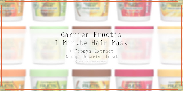 Garnier Fructis Damage Repairing Treat 1 Minute Hair Mask with Papaya Extract First Impression Review