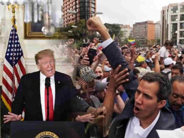 """Donald Trump Nilai Penggunaan Kekuatan Militer di Venezuala """"Suatu Opsi"""""""