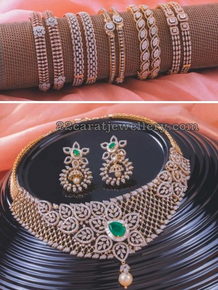 Neelkanth Jewellers Diamond Set Bangles