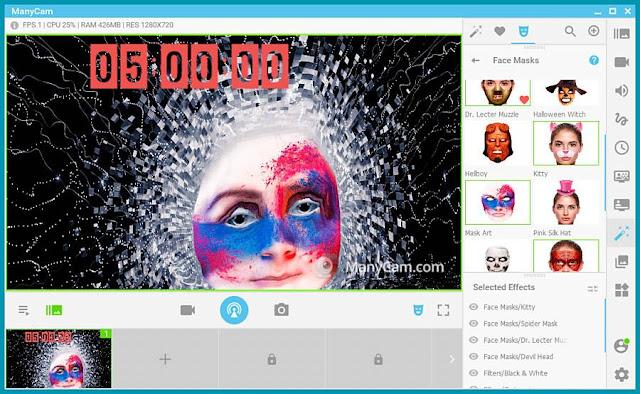 ManyCam : Προσθέστε διασκεδαστικά εφέ στην επικοινωνία σας
