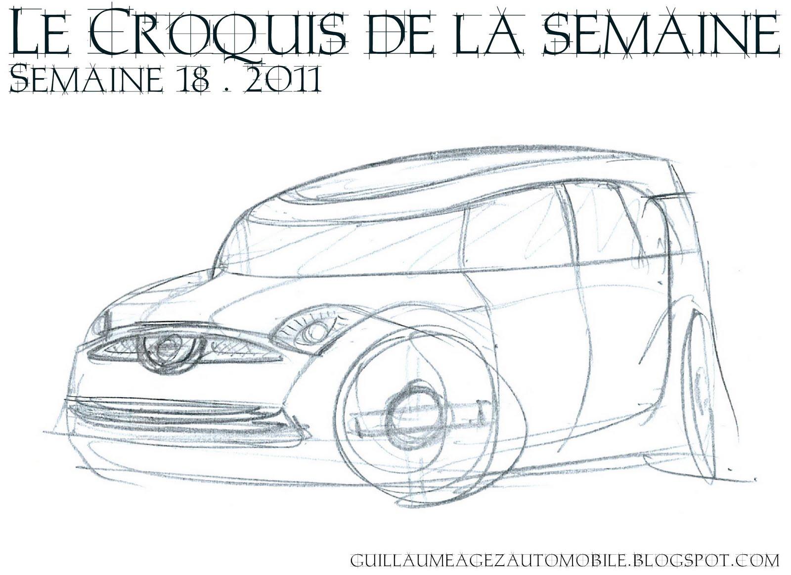 Guillaume Agez Automobile Le Croquis De La Semaine 18
