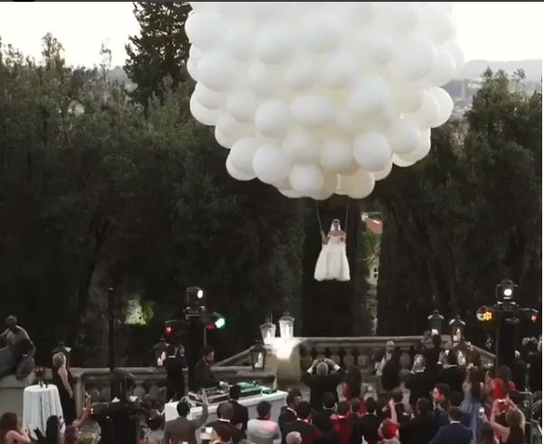 Video: This is how every lady should make a grand entrance on their wedding day