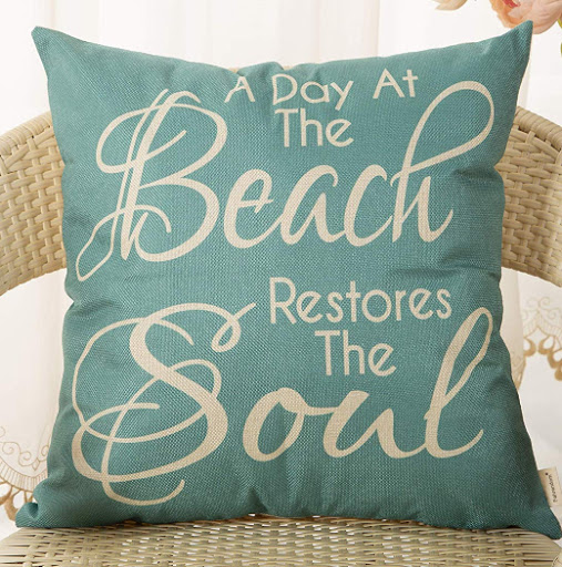 Beach Quote Throw Pillow Covers
