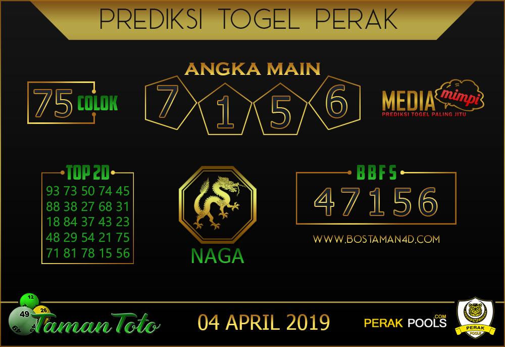 Prediksi Togel PERAK TAMAN TOTO 04 APRIL 2019