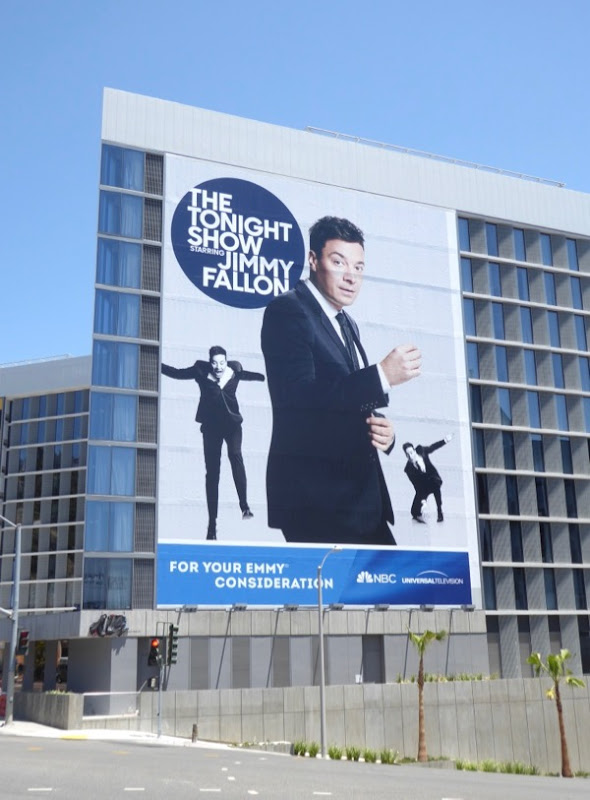 Giant Tonight Show Jimmy Fallon 2017 Emmy billboard