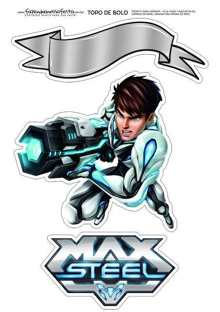 Max Steel: Toppers para Tartas, Tortas, Pasteles, Bizcochos o Cakes para Imprimir Gratis.