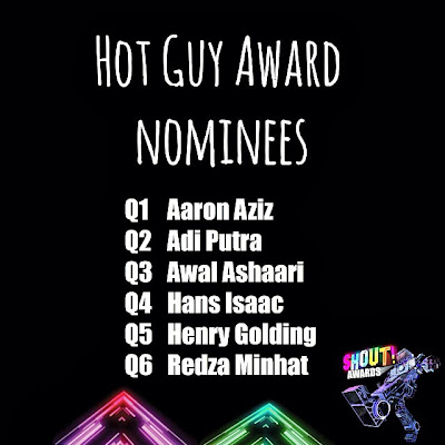 The Shout! Awards 2013 - Hot Guy Award Nominees