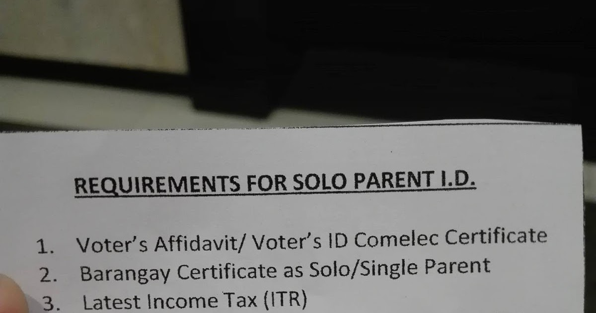 How To Apply For A Solo Parent ID