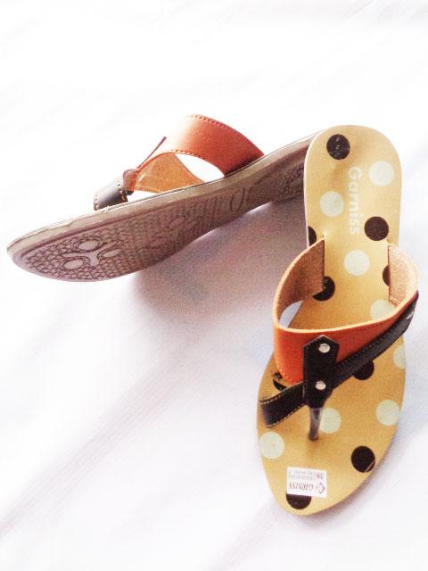Sandal murah Garniss Fiber wanita polkadot atas