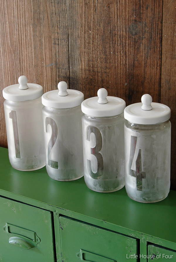 {Video Tutorial} Upcycled Etched Glass Storage Jars