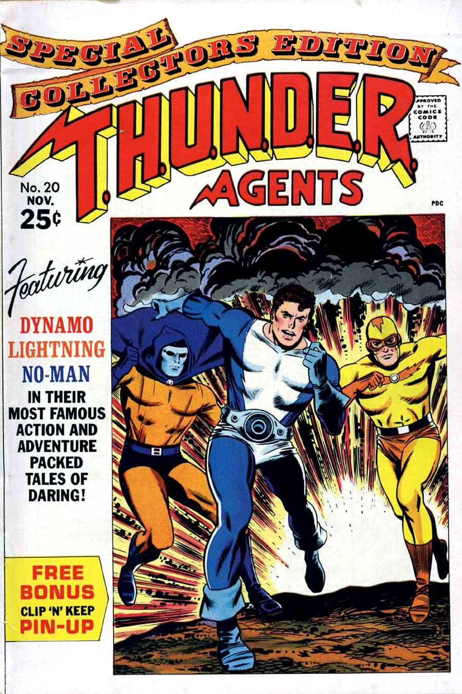 Thunder Agents v1 #20 tower silver age 1960s comic book cover art