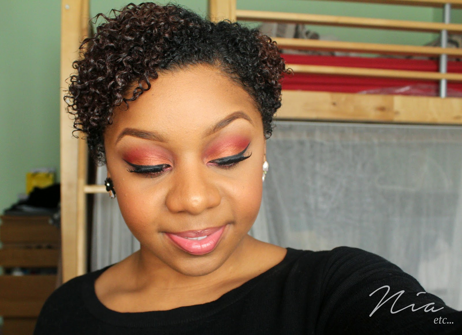 Summertime Orange and Red MakeUp Look 6