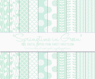 Free Mint Green Digital Papers