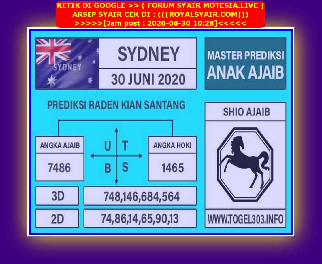 Kode syair Sydney Selasa 30 Juni 2020 117