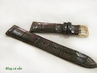 dây đồng hồ da cá sấu 28