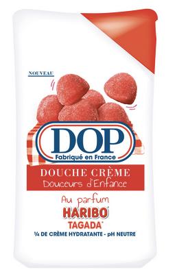 gel douche DOP x Haribo fraise tagada