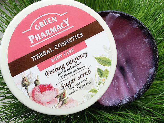 Green Pharmacy, Peeling cukrowy, róża piżmowa i zielona herbata