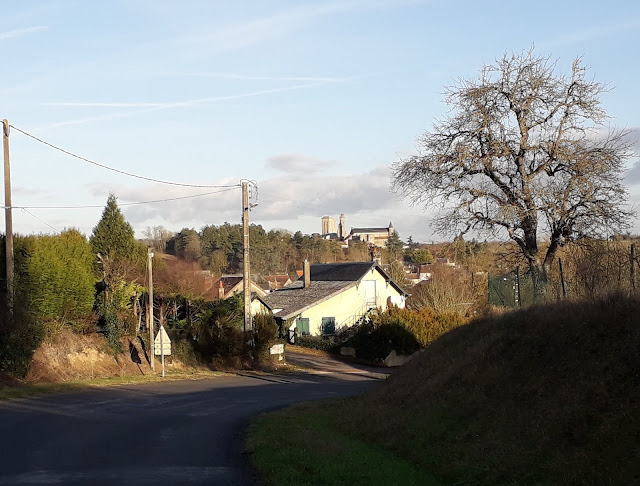 Looking towards Le Grand-Pressigny and its chateau high on a hill