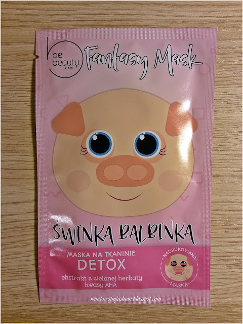 BeBeauty Care, Fantasy Mask, Maska na tkaninie detox, Świnka Balbinka