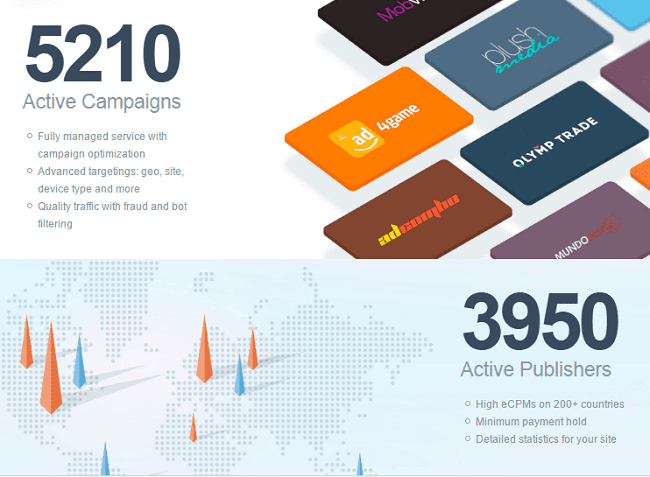 Active Publishers Campaigns