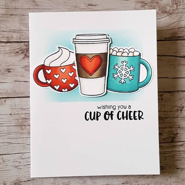 Sunny Studio Stamps: Mug Hugs customer card by Andrea Shell