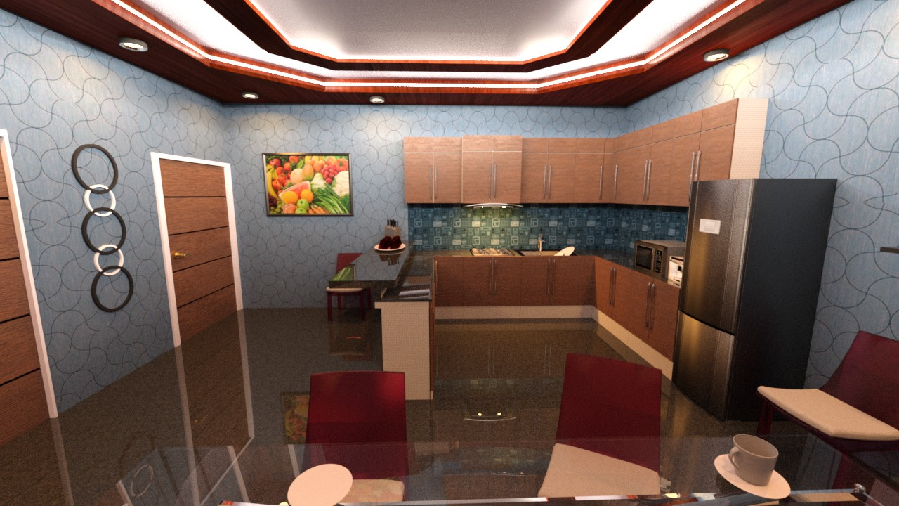 Download DAZ Studio 3 For FREE DAZ 3D Modern Kitchen And Dining Room Set 1