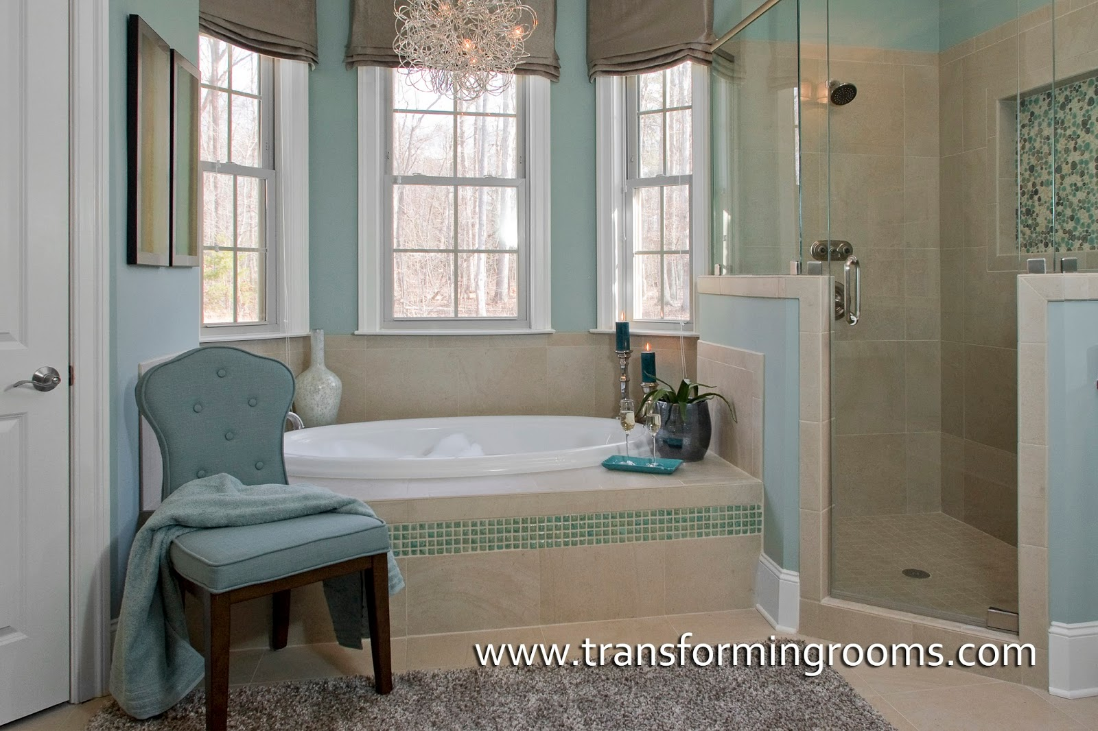How to layout a master bathroom for a remodel, corner shower or tub ...