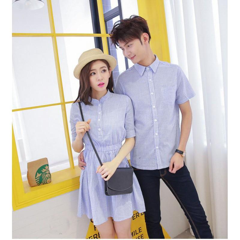 Jual Dress Couple Dress Shanghai Biru - 24317