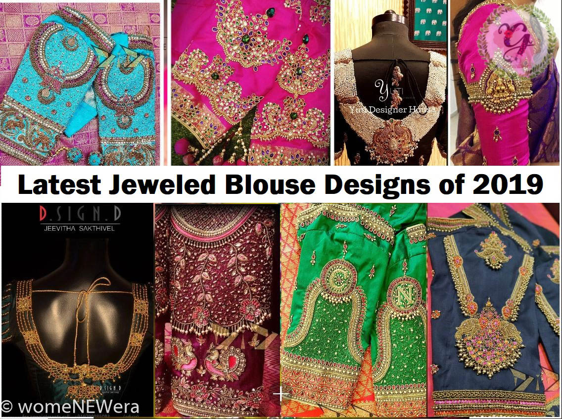 Latest Jeweled Blouse Designs For 2019