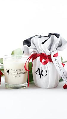 Bougie parfumée décoration saint valentin amour Paris