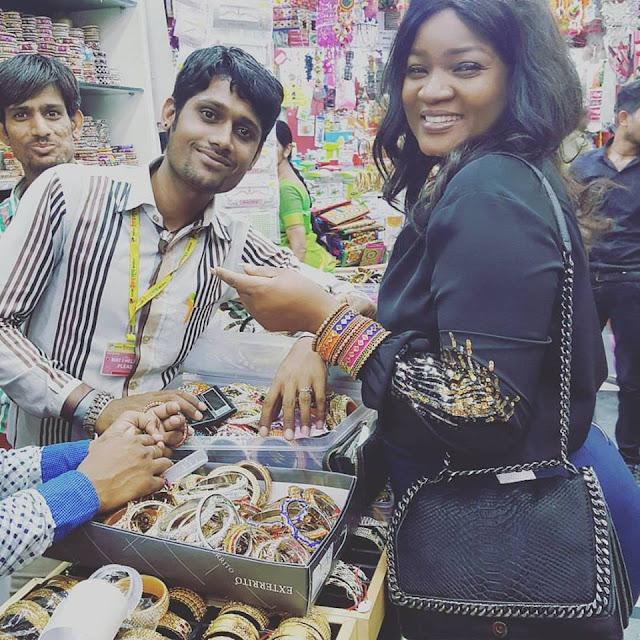 Omotola Jalade Ekeinde having good time in India celebrity news