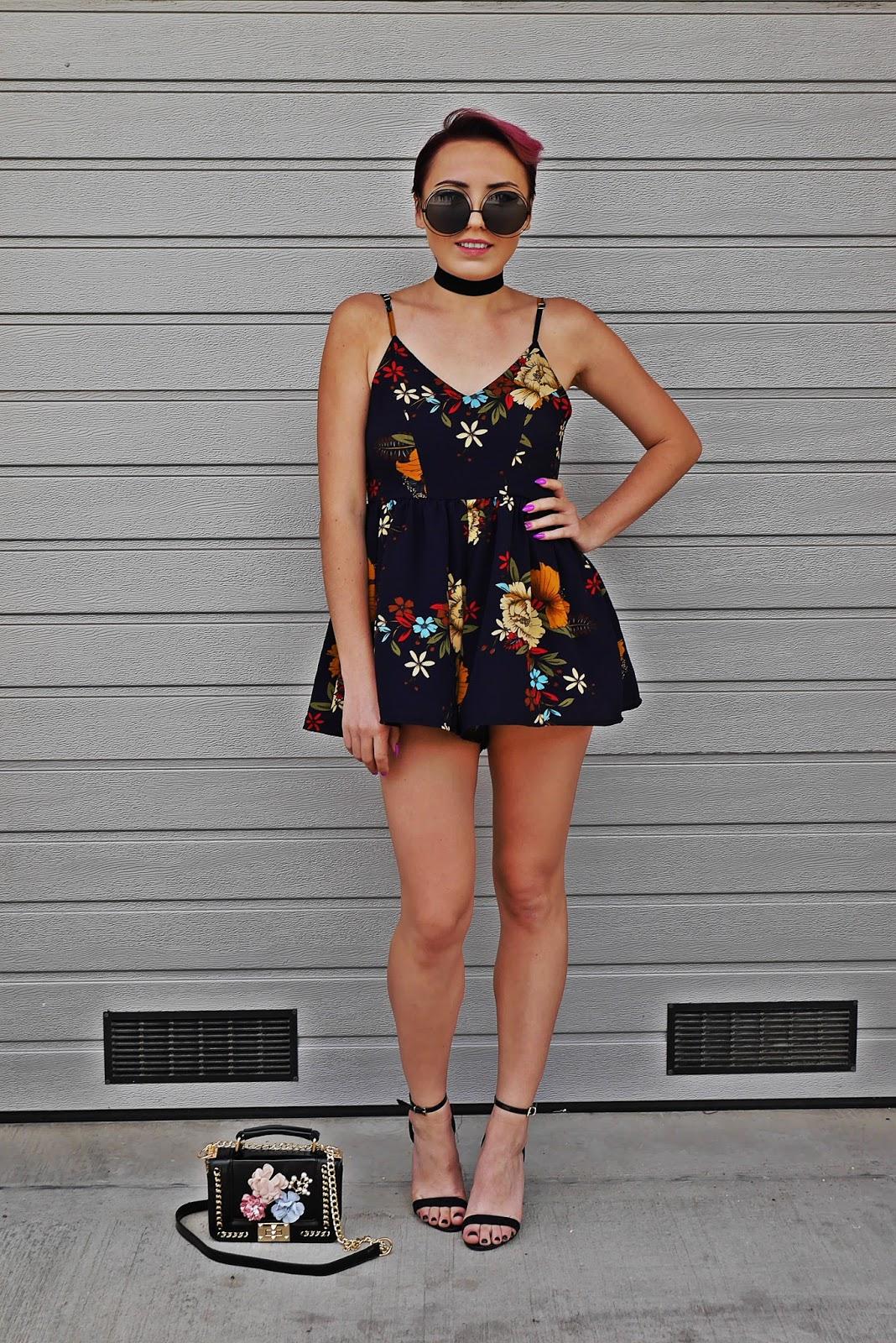 zaful_floral_romper_high_heels_choker_karyn_blog_modowy_210617b