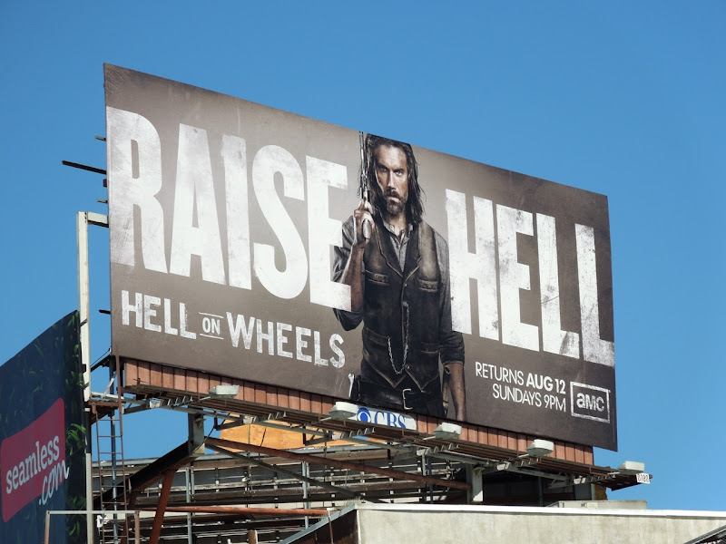 Hell on Wheels season 2 AMC billboard