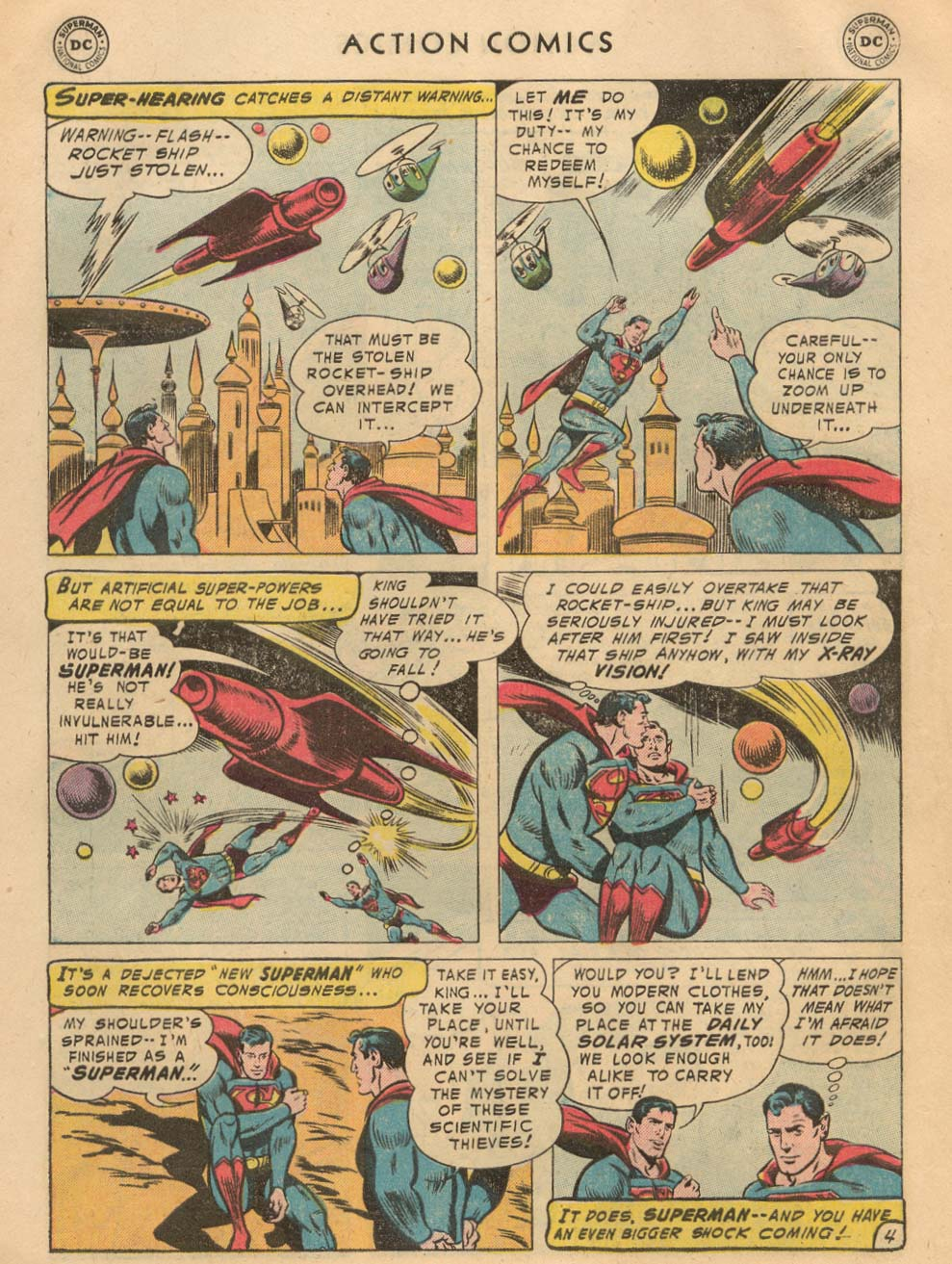 Read online Action Comics (1938) comic -  Issue #215 - 6