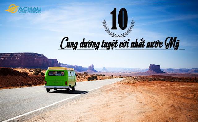 Top 5 tuyến đường tuyệt vời nhất nước Mỹ1