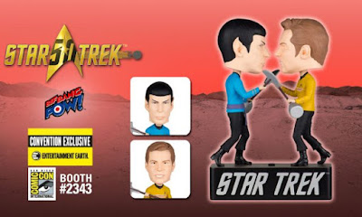 "San Diego Comic-Con 2016 Exclusive Star Trek ""Amok Time"" Captain Kirk & Spock Bobble Heads by Bif Bang Pow! x Entertainment Earth"