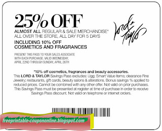 photograph regarding Lord and Taylor Printable Coupon called LORD AND TAYLOR Coupon codes - Lord And Taylor Price reduction