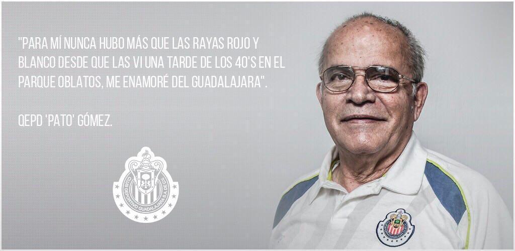 QEPD 'Pato' Gómez.