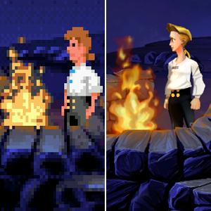 Comparación Monkey Island original - Edición especial Guybrush