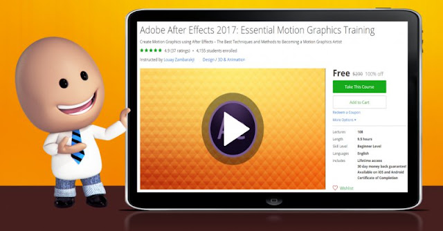 [100% Off] Adobe After Effects 2017: Essential Motion Graphics Training|Worth 200$