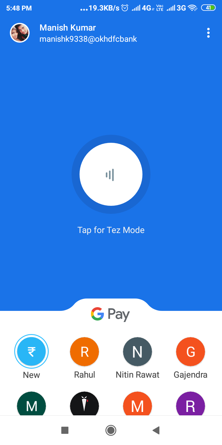 How to change UPI pin with Google pay