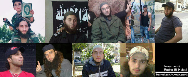 Lebanese Al Qaeda terrorists killed by the Syrian Army in an ambush in Talkalakh, Homs, Syria
